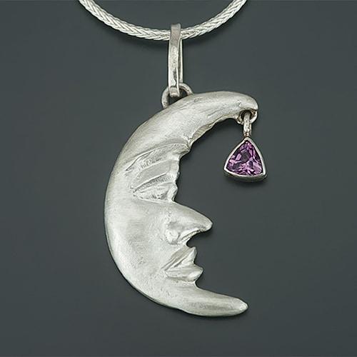 Moon face - pendant