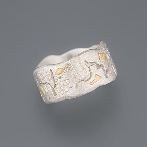 weidenthaler - Ring with sawing patterns, hallmarks and cuts - 303J14P135 2