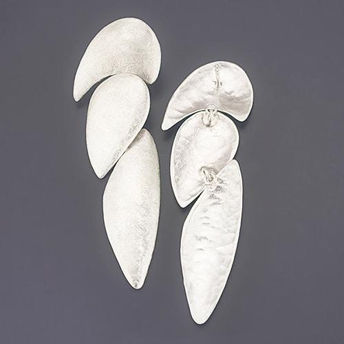 three-piece stud earrings back