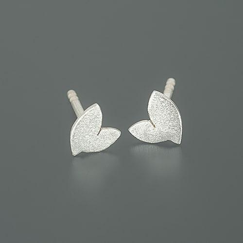 two-leaf stud earrings
