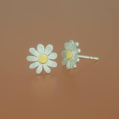 weidenthaler - Flower stud with fine gold point - 504C14P35 S2 2
