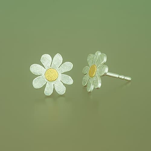 weidenthaler - Flower stud with fine gold point - 505C14P35 S9 2