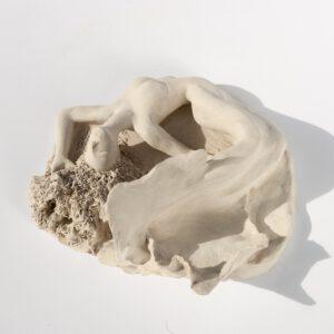 Meerjungfrau in Ton - Skulptur