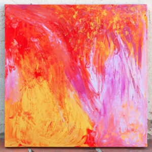 """""""Fire game"""" - acrylic on canvas"""